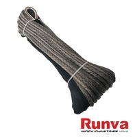 Synthetic Winch Rope - 30M x 10MM (GREY)